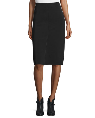 Phoebe Stretch Pencil Skirt, Black