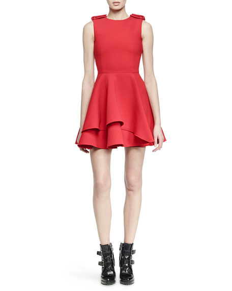 Alexander McQueen Scuba Fit-and-Flare Dress