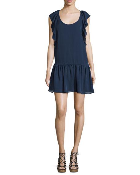 Joie Larose Ruffled Silk Dress