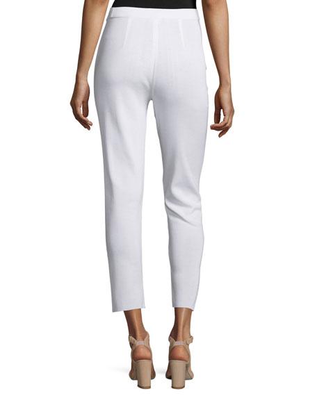 Slim Cropped Ankle Pants, White, Plus Size