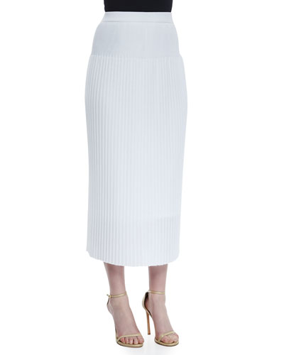 Long Pleated Skirt  Plus Size