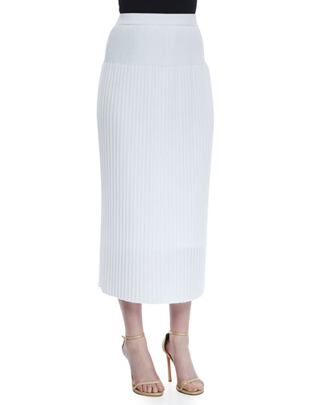 Long Pleated Skirt, Plus Size