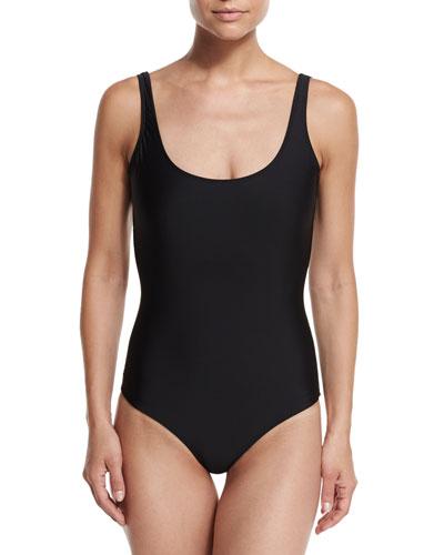 One-Piece UPF 50+ Tank Swimsuit  Black