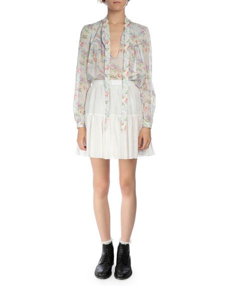 Tiered Full Mini Skirt