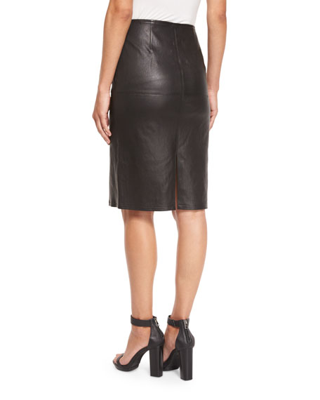 Eileen Fisher Fisher Project Leather Pencil Skirt