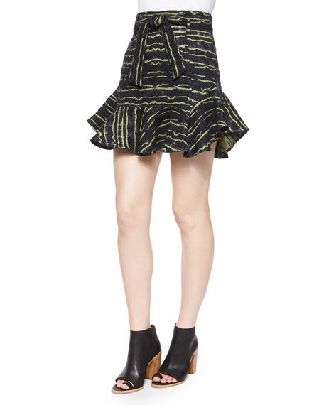 Marissa Webb Mabel Printed Flounce Skirt