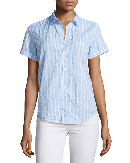 Frank & Eileen Billy Jean Striped Shirt, Blue/White