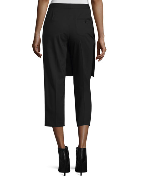 Cropped Apron-Front Pants