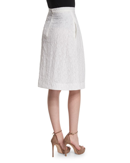 Pleated-Front Flippy Skirt