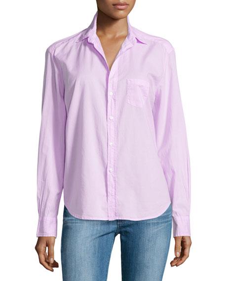 Eileen Button-Front Shirt, Pink