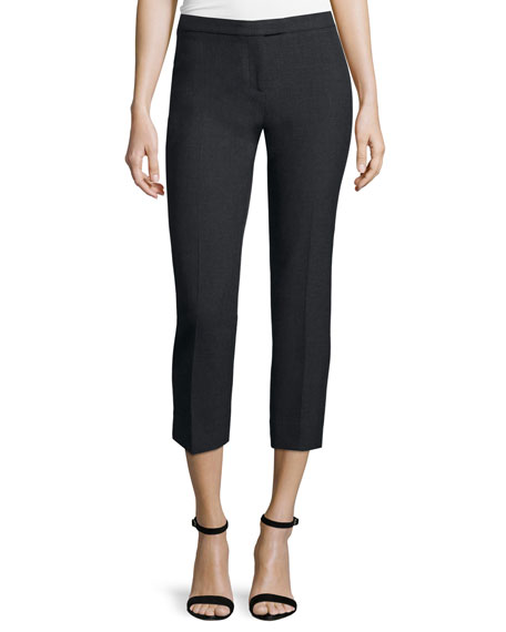 Peserico Suiting Cropped Pants, Charcoal