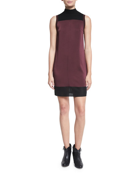 Rag & Bone Vivienne Chiffon Colorblock Shift Dress,