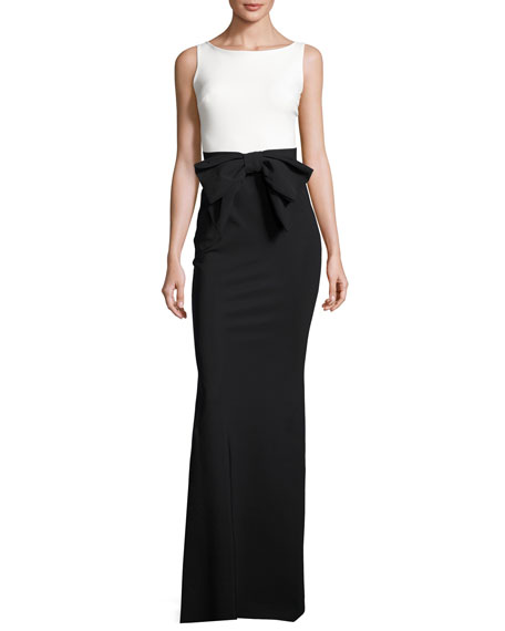 Chiara Boni La Petite Robe Sleeveless Two-Tone Jersey