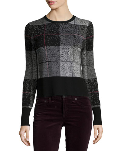 Tegan Plaid Long-Sleeve Tee