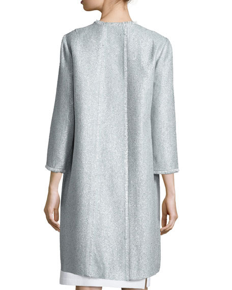 Long Tweed Coat, Sky Blue
