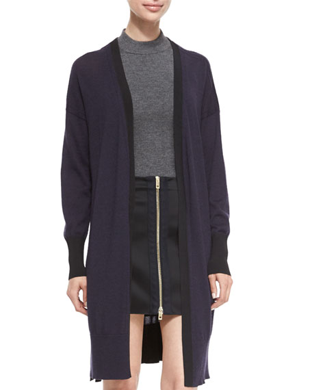 Jessica Long Open-Front Cardigan