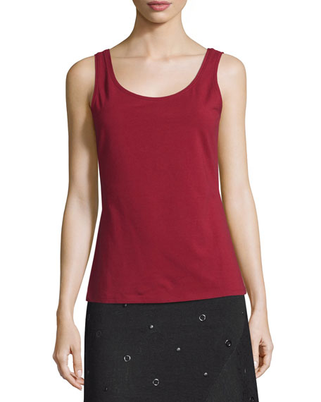 Perfect Scoop-Neck Tank, Oxide, Plus Size
