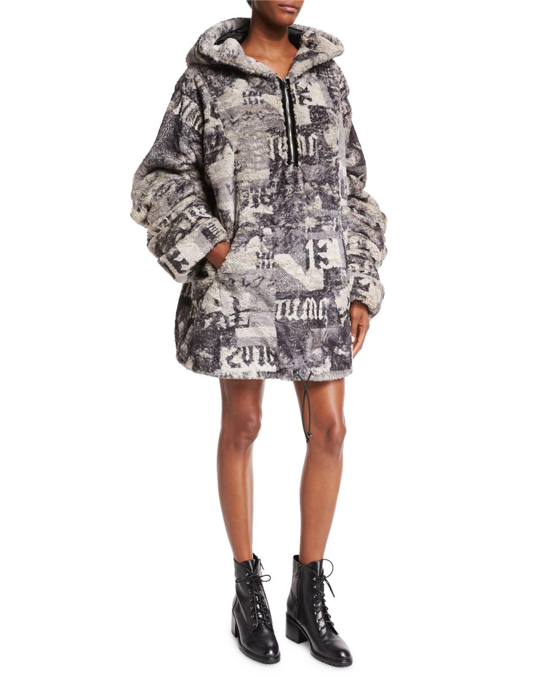 bff738508550 Fenty Puma by Rihanna Hooded Oversized Faux-Fur Jacket