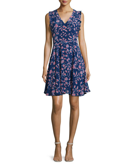 Kyoto Sleeveless Floral-Print Dress