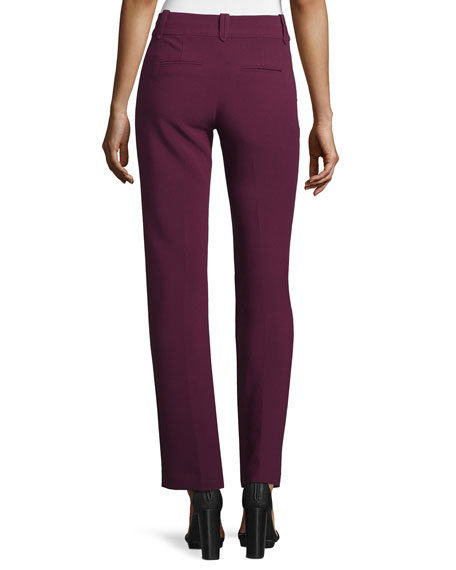 Straight-Leg Suiting Pants