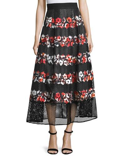 Milton Striped Ball Skirt