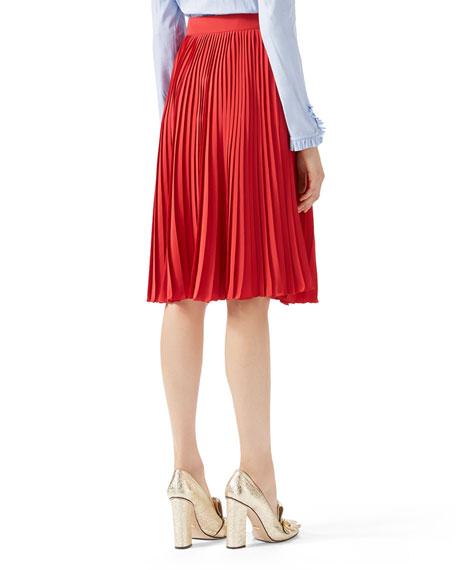 Silk Plissé Skirt