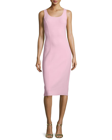 Michael Kors Sleeveless Scoop-Neck Sheath Dress, Ballerina