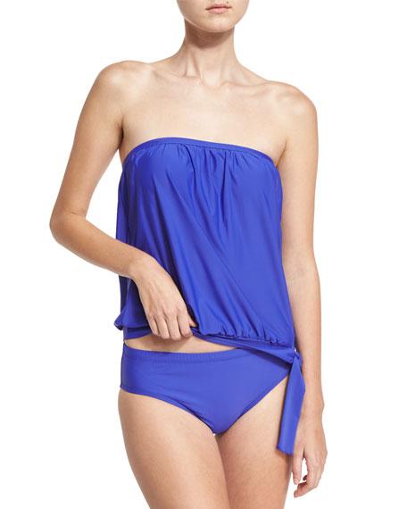 Cabana Solids Landa Mid-Rise Hipster Swim Bikini Bottom