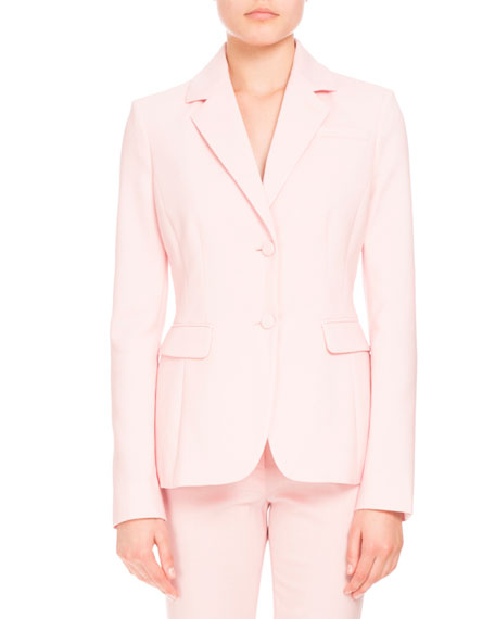 Fenice Two-Button Blazer, Shell Pink