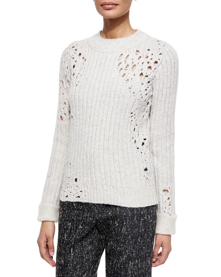 3.1 Phillip Lim Open-Knit Detail Sweater