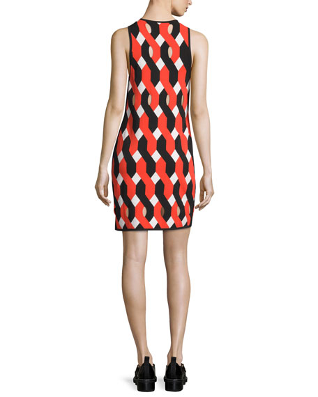 Olympia Printed Mini Dress, Multicolor
