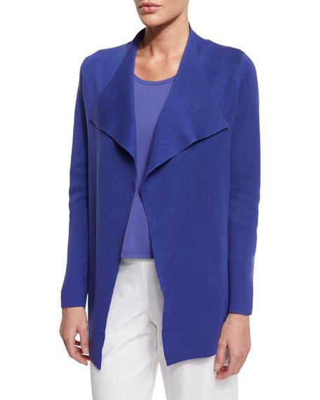 Eileen Fisher Open Interlock Jacket, Iris