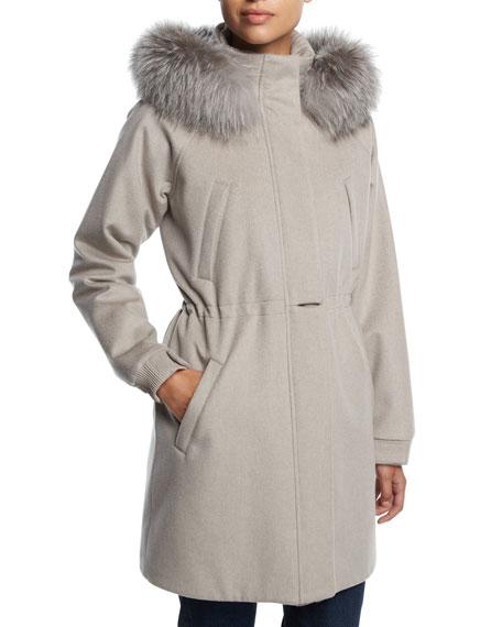 Icery Cashmere Storm System® Ski Jacket with Fox Fur