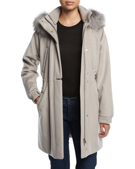 Icery Cashmere Storm System® Ski Jacket with Fox Fur