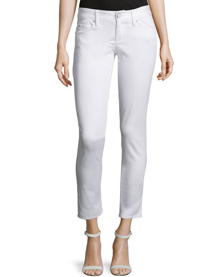 Lilly Pulitzer Worth Skinny Sateen Jeans, White
