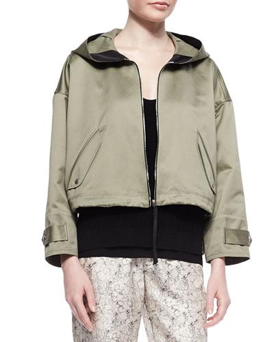 Randi Cropped Shimmery Cotton Jacket