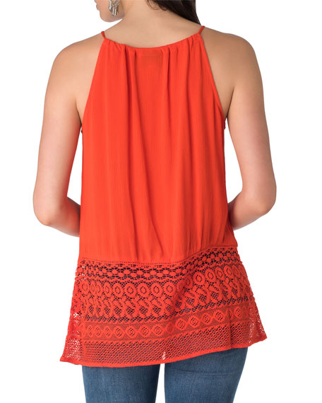 Tie-Neck Spaghetti Strap Top