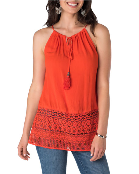 5Twelve Tie-Neck Spaghetti Strap Top