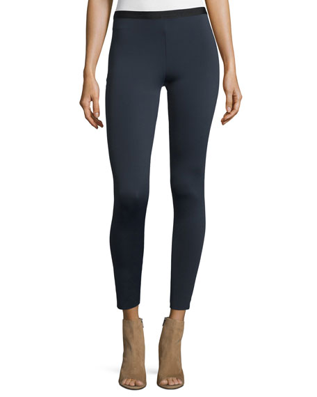 Helmut Lang Scuba Stretch Leggings, Navy