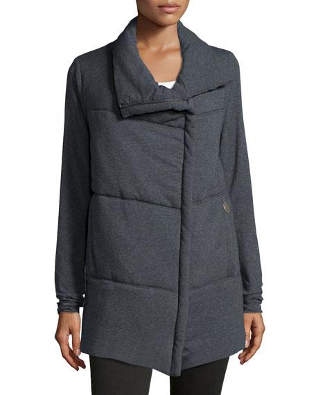Delano Cotton-Blend Asymmetric Zip-Front Jacket