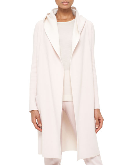 Akris Long Oversized Reversible Cashmere Cardigan Coat,
