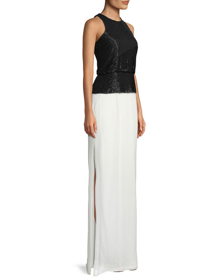 Halter Gown w/ Beaded Bodice