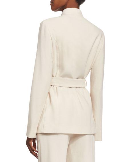 Slim-Fit Jacket W/Contrasting Pockets, Ivory Cream