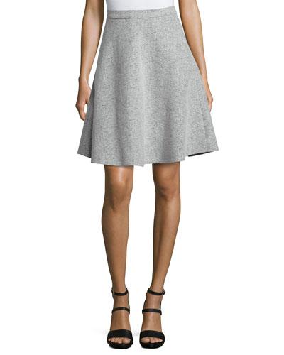 Zaikin Felt A-Line Skirt
