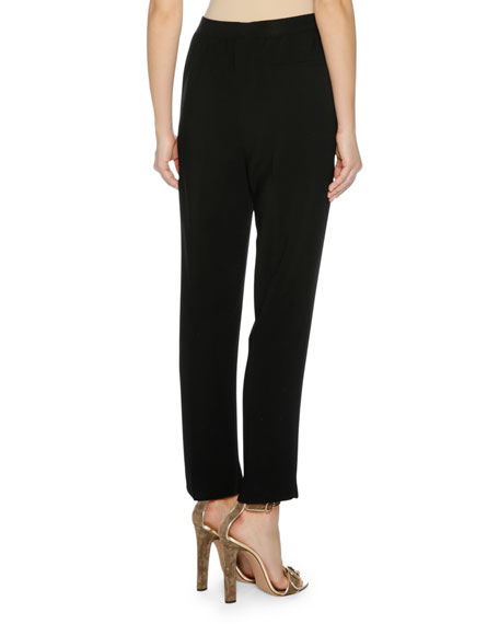 Cropped Cady Stretch Pants