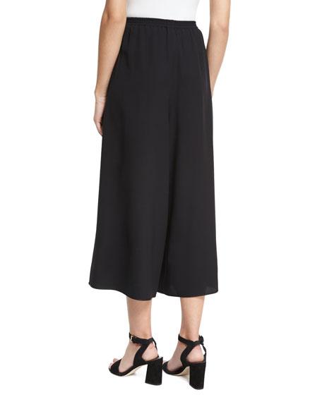 High-Waist Culottes, Black