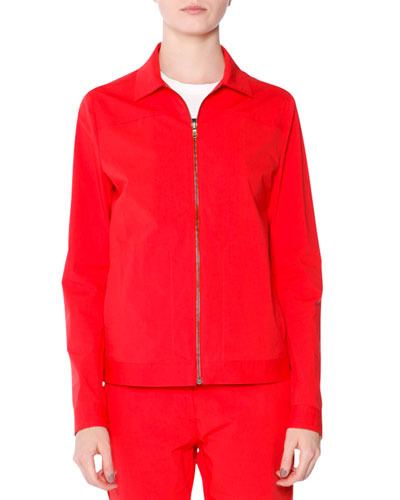 Long-Sleeve Zip-Front Jacket, Fire