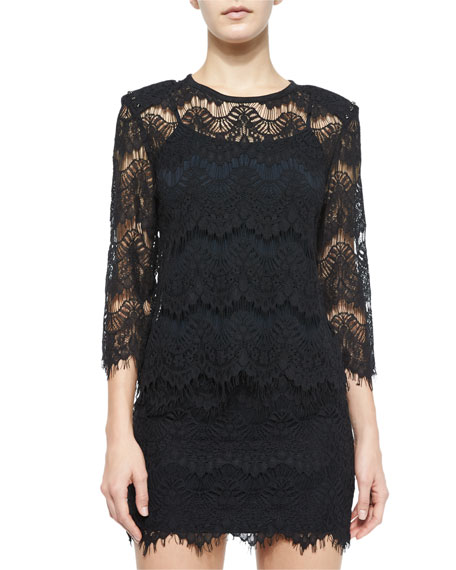 Generation Love Lace Open-Back Top