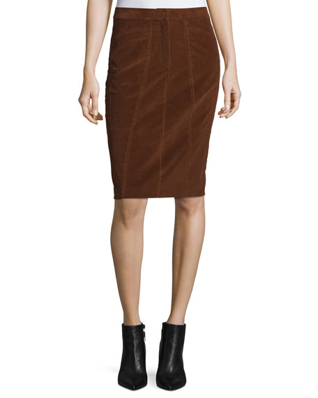 Corduroy Pencil Skirt, Vicuna