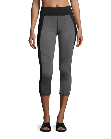 Michi Stardust Cropped Performance Leggings with Pocket,
